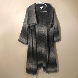 Loft | Maxi Wool Blend Cardigan Open Front L